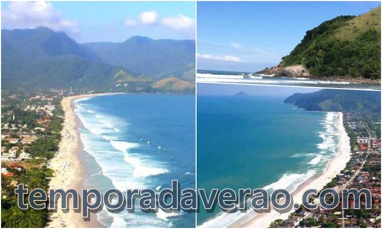 Praia de Maresias em São Sebastião - Temporada Verão - temporadaverao.com